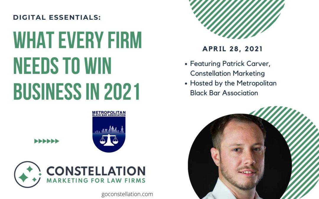 Constellation Marketing shares Digital Essentials with the Metropolitan Black Bar Association